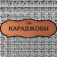 Табелка за врата Караджови - мед