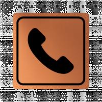 Указателна табела телефон - мед