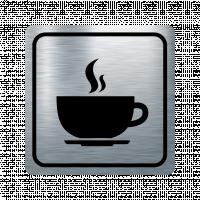 Указателна табела чаша кафе - инокс