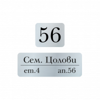 Табелки за пощенска кутия Цолови - сребро