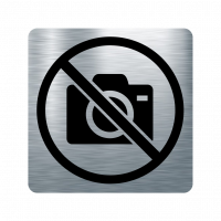 Забранителна табела фотоапарат - инокс