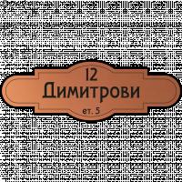 Табелка за врата Димитрови - мед